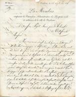 14 Sept. 1825 - HOSPICES CIVILS Et MILITAIRES De La Ville De NARBONNE (11) - Actif Du Budget, Etat Des Recettes ... - Documenti Storici