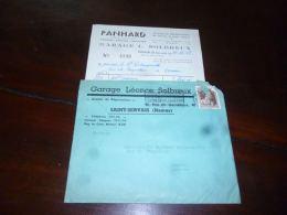 FF4 Enveloppe Et Facture Entête  Garage Léonce Solbreux Agence Panhard Saint-Servais St-Servais 1952 - Belgique