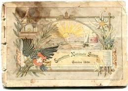 SUISSE PETIT LIVRET SUR L EXPOSITION NATIONALE SUISSE GENEVE 1896 Complet Mais Voir Scan état - GE Ginevra