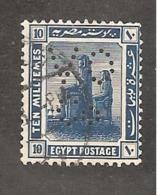 Perfin Perforé Firmenlochung Egypt SG 91 VO Co Vacuum Oil Company - Égypte