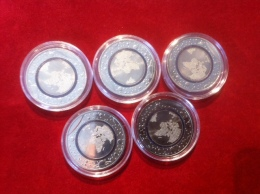 Münzenlot 5 Euro Sondermünze Blauer Planet 5 Münzen - [10] Commemorative