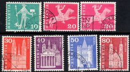 SWITZERLAND 1960 Definitive Issue 7 Values (phosphorescent Paper) Used - Gebraucht