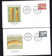 1987  Inuit Artefacts  Sewing Needles, Masks  MiNr 174-5 - FDC