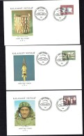 1988  Inuit Artefacts  Bucket And Bowl, Harpoon Points, Carved Faces  MiNr 186-8 - FDC