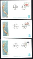 1993  Crabs 3 Different MiNr 231-3 - FDC
