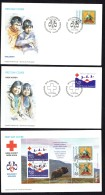 1993  Red Cross And Boy Scouts  Stamps And Souvenir Sheet On 3 FDCs  MiNr 236-7, Block 4 - FDC