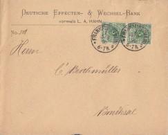 DR Brief Mef Minr.2x 46 Frankfurt 15.8.90 Senkr. Paar - Deutschland
