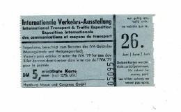 Ticket De Transport Db Train Allemagne Pour Exposition Communication - Chemins De Fer