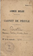 Carnet De Pécule / Guerre 14-18/ Armée Belge /Modéle N°4/Lancier/Derville Gaston/1919  AEC35 - 1914-18
