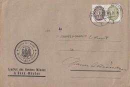 DR Brief Dienst Mif Minr.D128, D131 Hann. Münden 29.6.35 - Dienstpost