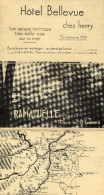 HOTEL BELLEVUE - RAMATUELLE - TELEPHONE 5 - 10 KMS DE ST TROPEZ - Advertising