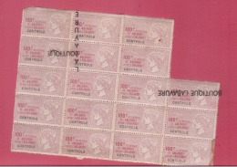 Planche X 18 Timbres TAXE LUXE 100 F--Controle - Postage Due