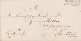 Preussen Brief R2 Strassburg U./M. 20.6. Gel. Nach Stettin - Preussen