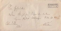 Preussen Brief R2 Kakerbeck 26.1. Gel. Nach Cloetze - Preussen
