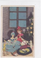 CARD CHIOSTRI   BUON NATALE ALBERO CANDELINE BAMBOLA PINOCCHIO BIMBI-FP-V -2-0882-25505 - Illustratori & Fotografie