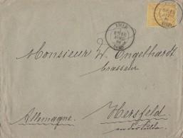 Frankreich Brief EF Minr.78 Lille 10.4.84 Gel. Nach Deutschland - 1876-1898 Sage (Type II)