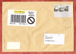 Buechersendung, EF Schloss Moyland, Hamburg Ueber Briefzentrum 20 Nach Leonberg 2007 (30898) - BRD