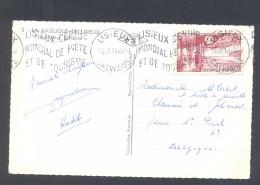 Carte Postale Affr 6 F Région Bordelaise Pour La Belgique Tarif Assimilé Imprimés  TTB - Poststempel (Briefe)