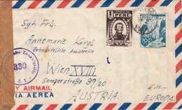 PERU 1947 - 2 Fach Frankierung Auf LP-Zensurbrief Gel.von Lima > Wien - Peru
