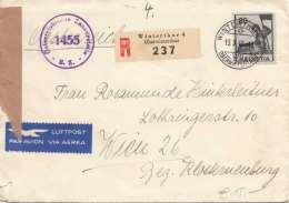 SCHWEIZ 1948 - 80 C Auf Zensurierten RECO-FP-Brief Gel.v.Winterthur Nach Wien, Brief Mit Inhalt - Peru