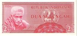 Indonesia - Pick 75 - 2 1/2 Rupiah 1956 - Unc - Indonésie