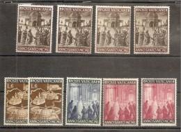 1949 Vaticano Vatican ANNO SANTO  HOLY YEAR 5Lx4+6Lx2+ 10L +60Lx2 MNH** - Vatican