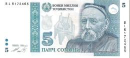 Tajikistan - Pick 15 - 5 Somoni 1999 - Unc - Tagikistan