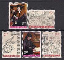 Belgium**ERASMUS-THOMAS MORE/THOMAS MORUS-HUMANISM-5vals-1967-Painter Q. Matsijs-Poet P. Gilles-MNH - Belgium