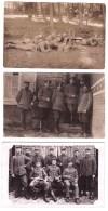 3 ORIGINAL PHOTO   Of German Soldiers In The First World War  Feldpost Postmarks - 1914-18