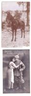 ORIGINAL PHOTO   Of German Soldier  And Postcard - 1914-18