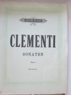CLEMENTI  Sonaten  Band 1  Edition Peters  146a  SONATEN   Partition Piano - Instruments à Cordes