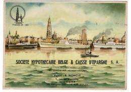 Grand Buvard Ancien, Société Hypothécaire Belge & Caisse D'Epargne, F. NONCLE, Rue De Warcoing, St Léger - 2 Scans - Buvards, Protège-cahiers Illustrés