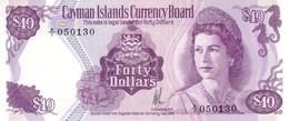* CAYMAN ISLANDS 40 DOLLARS 1974 (1986) P-9 UNC [ KY109a ] - Cayman Islands