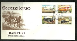 Swaziland - 1981 Transport FDC - Swaziland (1968-...)