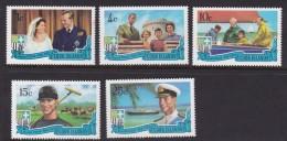 Cook Islands SG 345-49 1971 Royal Visit MNH - Cook