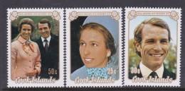 Cook Islands SG 450-52 1973 Royal Wedding MNH - Cook