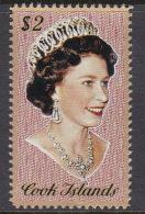 Cook Islands SG 483 1975 Queen Elizabeth II Portrait $ 2.00 MNH - Cook