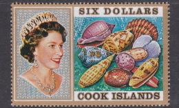 Cook Islands SG 485 1975 Shells Six Dollars MNH - Cook Islands