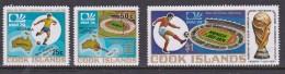 Cook Islands SG 488-90 1974 World Cup Football MNH - Cook