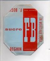 """Publicité - Emballage En Carton Complet Sucre En Morceaux 1 KG """"  FB Beghin """"  à Thumeries ( Nord ) Voir Exemple ! - Werbung"""