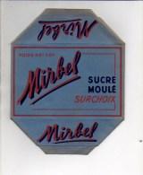 """Publicité - Emballage En Carton Complet Sucre En Morceaux Moulé 1 KG """" MIRBEL """" Voir Exemple ! - Werbung"""