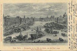 Vieux Paris - Perspective De La Ville De Paris, Vue Du Pont Rouge - Peinture Musée Carnavalet - Carte Précurseur - Frankreich