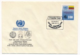 LITUANIE - Une Enveloppe - Admission De La Lituanie à L'ONU- 1992 - UNO