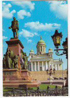 Helsinki - The Dom And The Statue Of Alexander II  -  Finland / Suomi - Finland