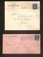 HOTEL POST 4 Brieven O.a. 2 X Met Nr. 320 + 1 X HOUYOUX + 1 X FRANKRIJK LANNION ; Staat Zie 2 Scans ! - 1931-1934 Mütze (Képi)