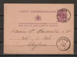 Postkaart / Carte - Correspondance Van Nr. 45 Verzonden Van RENAIX Naar ISEGHEM ( DC ) ; Staat Zie Scan ! - 1869-1888 Liggende Leeuw