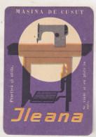Romanian Small Calendar - 1967 - Ileana Sewing Machine - Calendriers