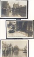 3 CPA .INONDATIONS - Janvier 1910 (Voir Scan S.v.vp.p) - Alluvioni Del 1910