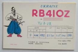 Kt 728 / QSL Radio Card, Slavyansk, Ukraine - Radio Amateur