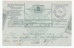 696/23 - Carte Postale TP Armoiries ANS 31 Déc. 1903 - Reproduction D'un Télégramme De Voeux Pour 1904 - Telegraph